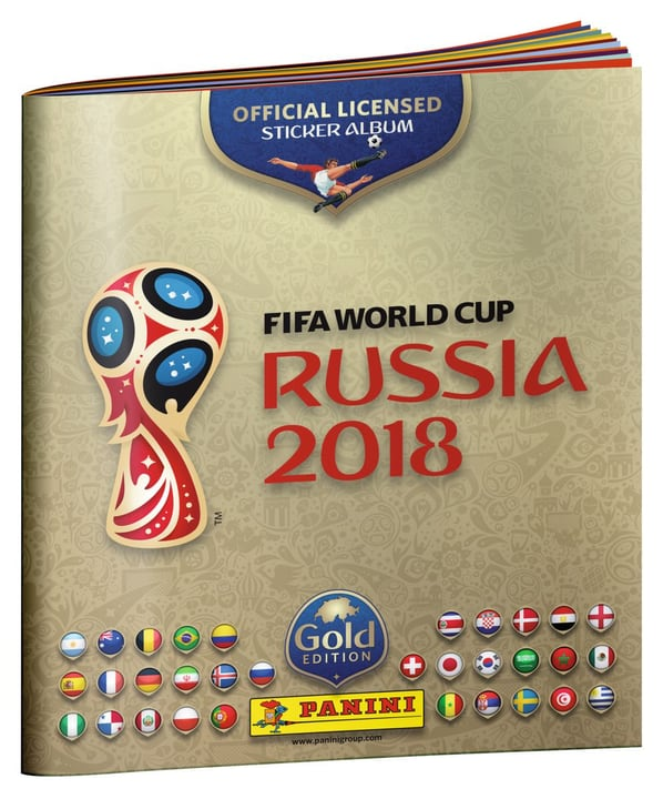 PANINI 2018 FIFA World Cup TM Official Sticker Album Gold Edition 747652100000 N. figura 1