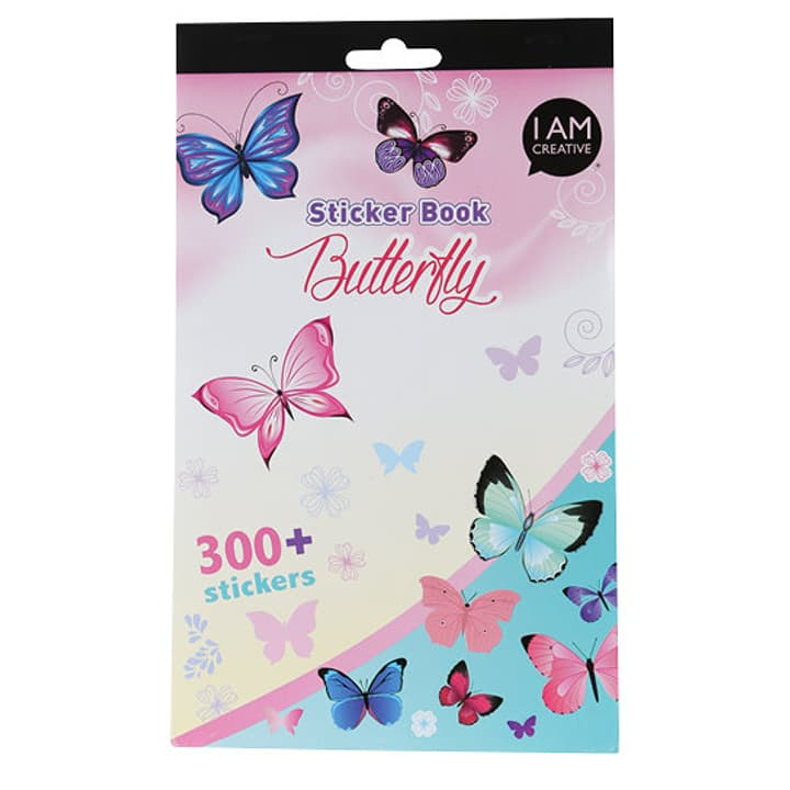 Stickerbook, Butterfly I AM CREATIVE 666204600000 N. figura 1