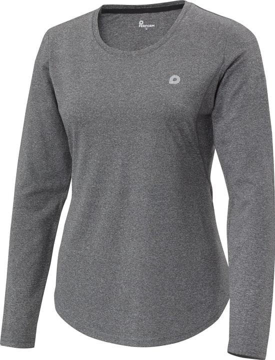 Damen-Langarmshirt Perform 470194003820 Farbe schwarz Grösse 38 Bild-Nr. 1