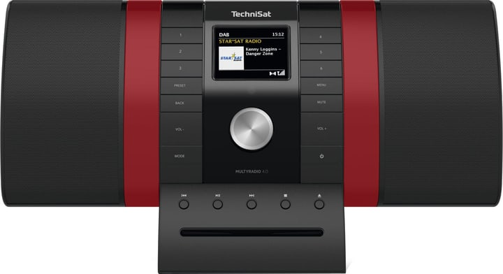MultyRadio 4.0 - Noir/Rouge Chaînes HiFi compactes Technisat 785300151124 Photo no. 1