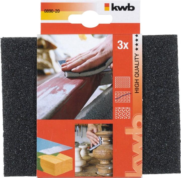 Éponges abrasives BOIS & MÉTAL, moyen 3 pcs. kwb 610508600000 Photo no. 1