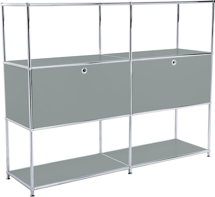 FLEXCUBE Highboard 401814820380 Grösse B: 152.0 cm x T: 40.0 cm x H: 118.0 cm Farbe Grau Bild Nr. 1