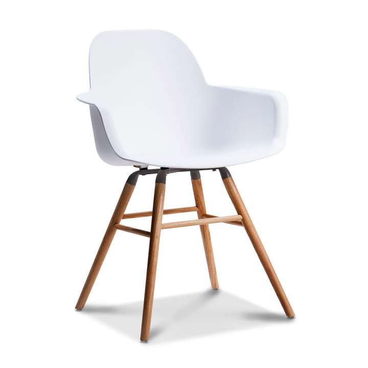 ALBERT Chaise avec accoudoirs 366026252806 Dimensions L: 55.0 cm x P: 59.0 cm x H: 81.5 cm Couleur Blanc Photo no. 1