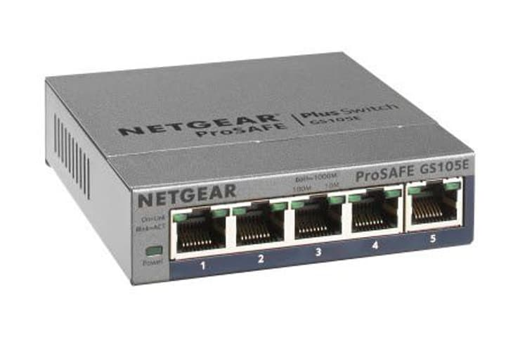 GS105E-200PES 5-Port Smart Managed Plus Gigabit Switch Netgear 785300124215 Photo no. 1