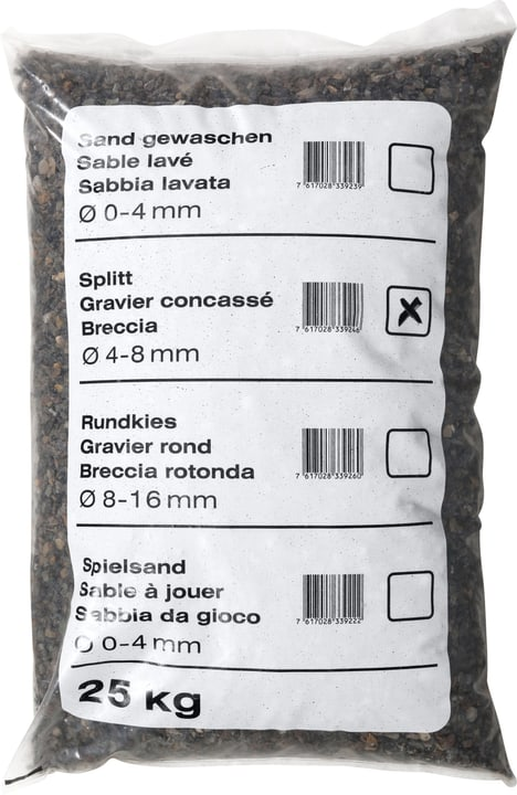 Gravier concassé, 25 kg - Palette à 40 pièces 647520000000 Photo no. 1