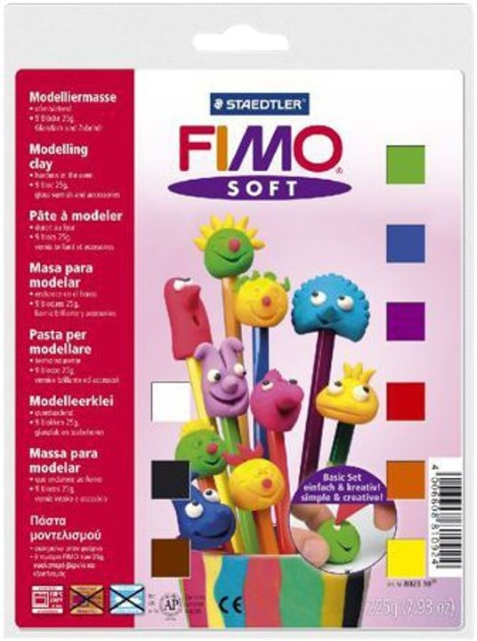 Basic-set 9 halbbloecke Fimo 664511600000 Photo no. 1