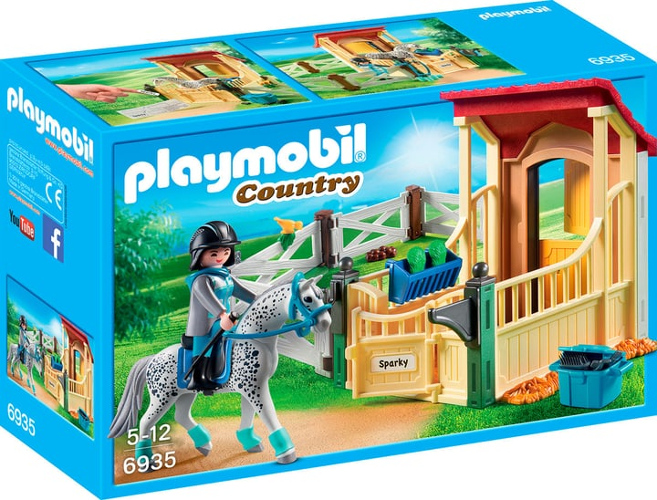 Playmobil Country Stalla con cavallo Appaloosa 6935 746085800000 N. figura 1