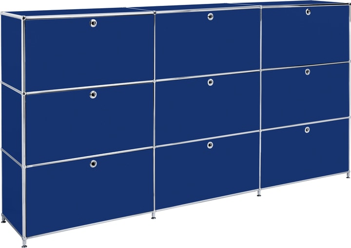 FLEXCUBE Buffet haut 401815030340 Dimensions L: 227.0 cm x P: 40.0 cm x H: 118.0 cm Couleur Bleu Photo no. 1