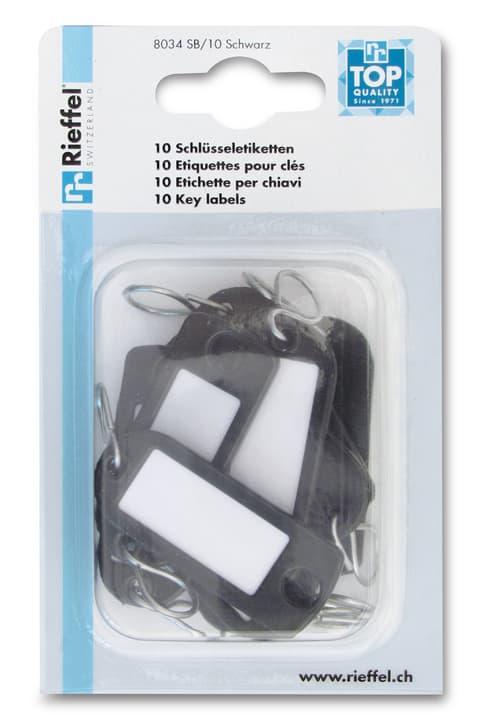 Schlüsseletiketten Schwarz 605603400000 Bild Nr. 1