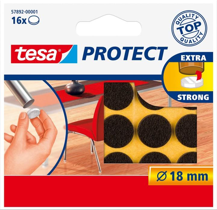 Filzgleiter rund, braun, 18mm Tesa 663079500000 Bild Nr. 1