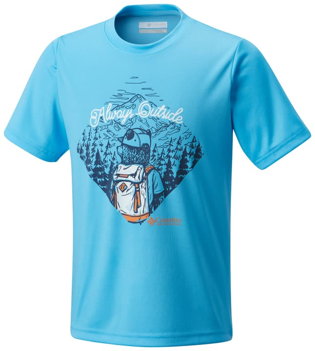 Always Outside Kinder T-Shirt Columbia 464535814041 Farbe Hellblau Grösse 140 Bild-Nr. 1