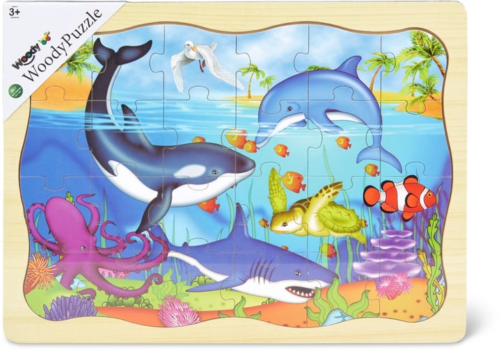 Woody Puzzle en bois animaux marins  (FSC®) 746390200000 Photo no. 1