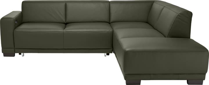 KRÜGER Canapé d'angle 405722200000 Dimensions L: 266.0 cm x P: 220.0 cm x H: 77.0 cm Couleur Vert Photo no. 1