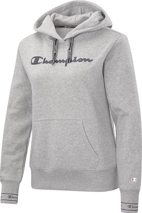 Hooded Sweatshirt Felpa con cappuccio da donna Champion 464228600580 Colore grigio Taglie L N. figura 1