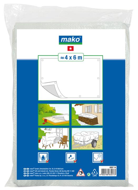 Gewebeplane Basic 4 x 6 m Mako 677022700000 Bild Nr. 1