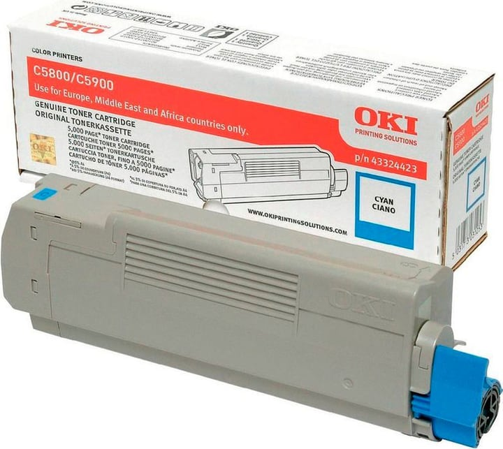 43324423 Toner cyan OKI 785300124120 Photo no. 1