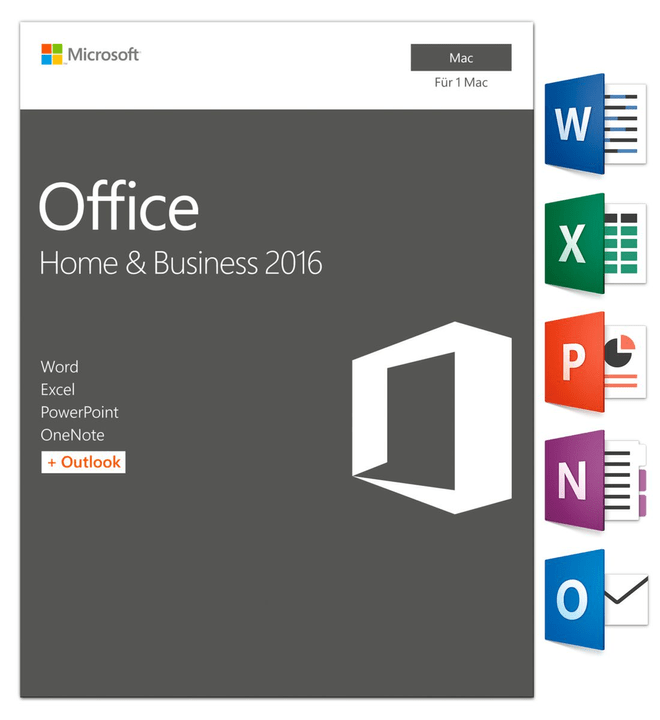 Mac - Office MAC 2016 Home and Business Physique (Box) Microsoft 785300121058 Photo no. 1
