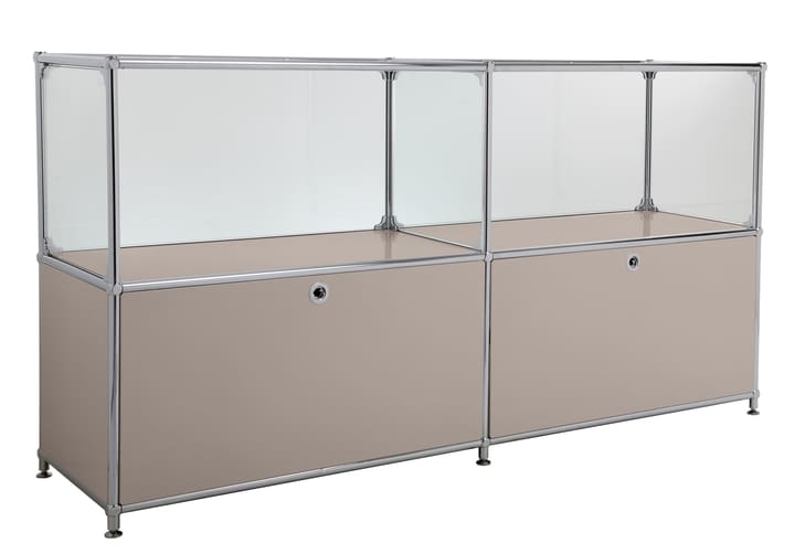 FLEXCUBE Buffet 401814120288 Couleur Gris taupe Dimensions L: 152.0 cm x P: 40.0 cm x H: 80.5 cm Photo no. 1