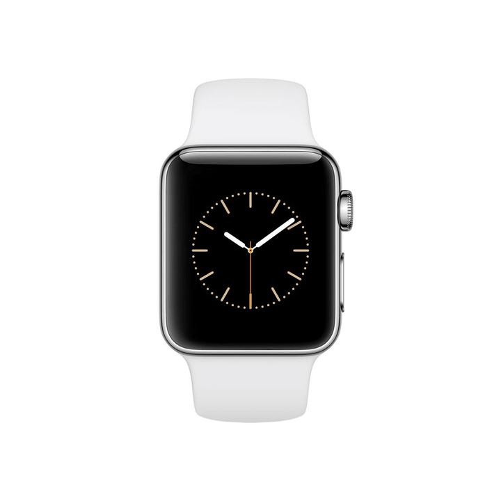 Watch Series 2, 38mm  Boîtier en aluminium argent avec Bracelet Sport blanc Apple 798146000000 Photo no. 1