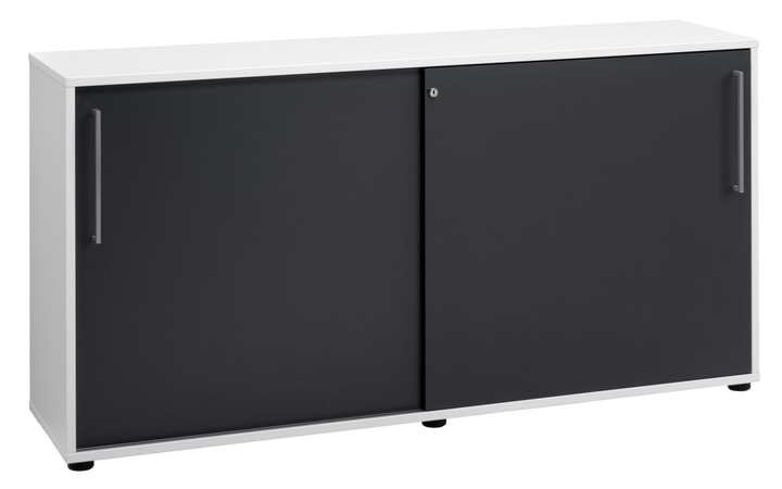 CONCEPT X Sideboard 401828700000 Grösse B: 156.2 cm x T: 40.6 cm x H: 79.3 cm Farbe Weiss / Anthrazit Bild Nr. 1