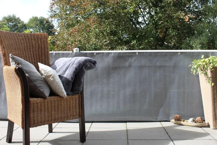 Habillage p. balcon effet rotin 300x90cm Videx 631314400000 Couleur Argenté Taille L: 300.0 cm x H: 90.0 cm Photo no. 1