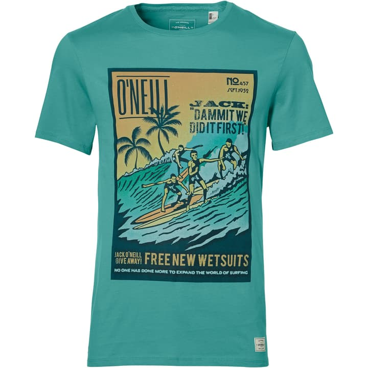 T-SHIRT LM THROWBACK PHOTO T-Shirt pour homme O'Neill 463113200365 Couleur petrol Taille S Photo no. 1