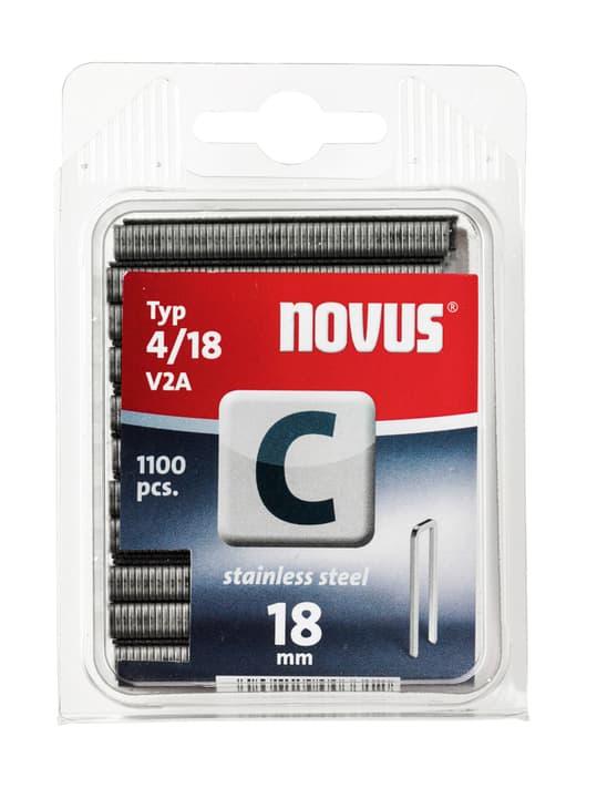 Agrafes à dos étroit C Typ 4/18 V2A NOVUS 601268300000 Taille 18 mm / V2A 1'100x Photo no. 1
