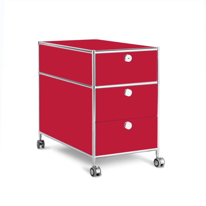 QUADRO Cassettiera 364241800030 Dimensioni L: 42.0 cm x P: 77.0 cm x A: 67.5 cm Colore Rosso N. figura 1