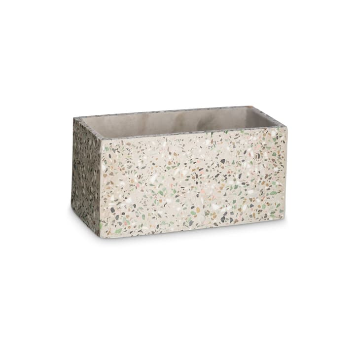 TERRAZZO Cache-pot 382106800000 Dimensions L: 23.0 cm x P: 12.0 cm x H: 11.0 cm Couleur Beige Photo no. 1