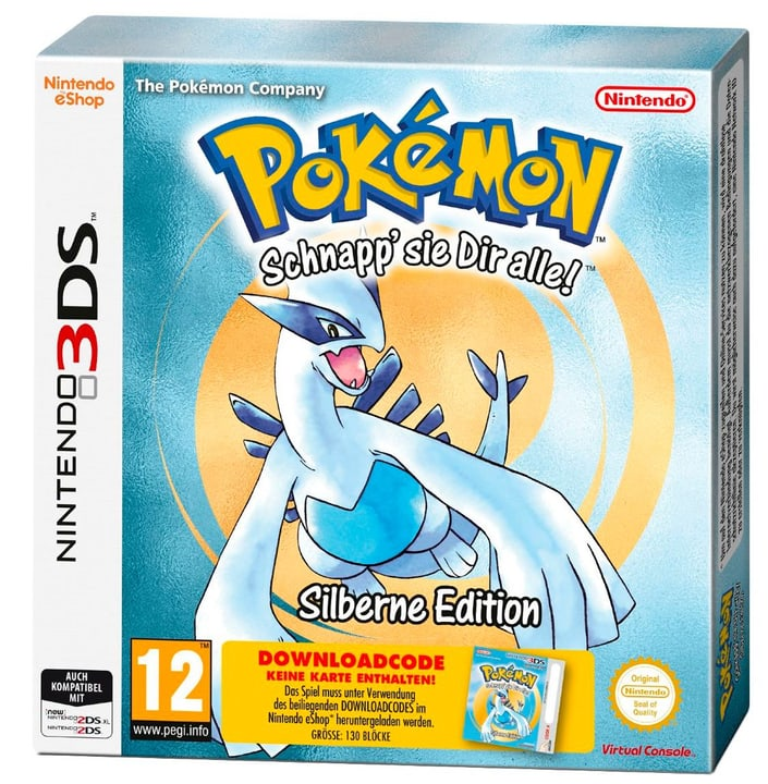 3DS - Pokémon Silber (Downloadcode) 785300129648 N. figura 1