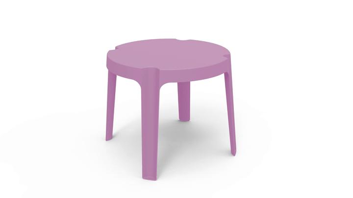 Kindertisch RITA Resol 753161000036 Farbe Pink Grösse B: 50.0 cm x T: 50.0 cm x H: 49.0 cm Bild Nr. 1