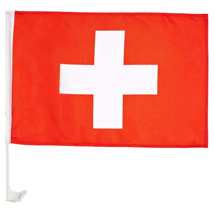 Schweiz / Suisse / Svizzera Drapeau pour voiture Extend 461937799930 Couleur rouge Taille one size Photo no. 1