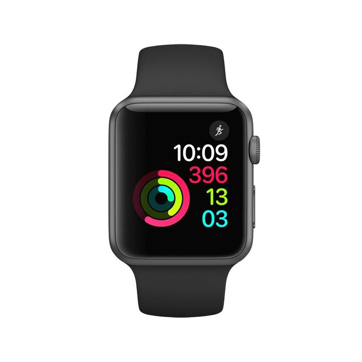 Watch Series 1, 42mm Cassa in alluminio grigio siderale con cinturino Sport nero Apple 798150500000 N. figura 1