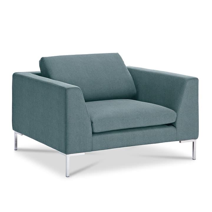 NEWTON Drom Fauteuil 360044934306 Dimensions L: 110.0 cm x P: 102.0 cm x H: 80.0 cm Couleur Turquoise Photo no. 1