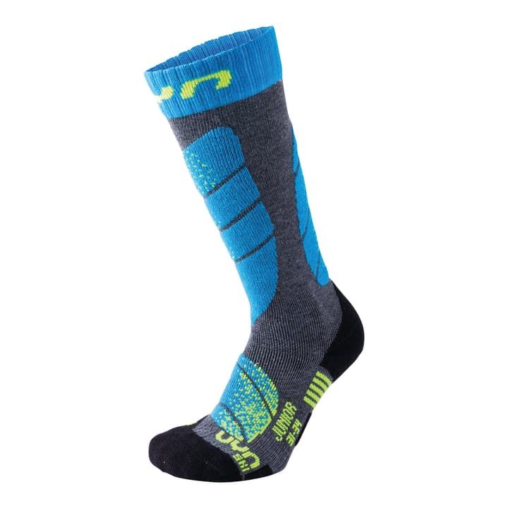 Junior Ski Socks Kinder-Skisocken UYN 497184627044 Farbe türkis Grösse 27-30 Bild-Nr. 1