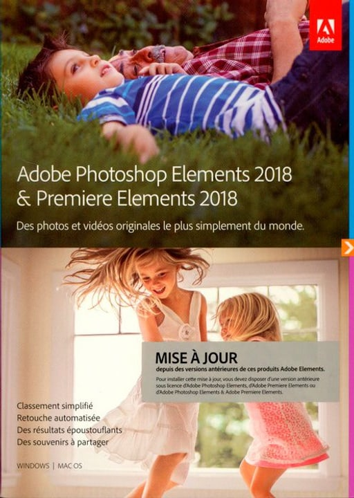 PC/Mac - Photoshop Elements 2018 & Premiere Elements 2018 Upgrade (F) Physique (Box) Adobe 785300130203 Photo no. 1