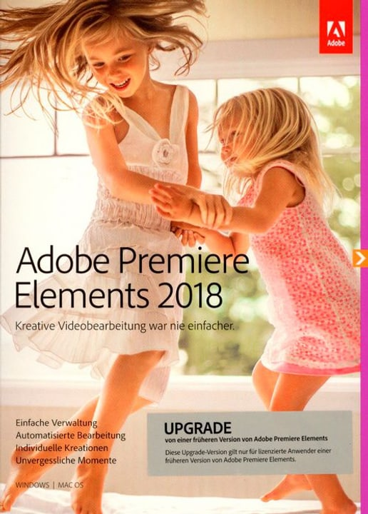 PC/Mac - Premiere Elements 2018 Upgrade (D) Fisico (Box) Adobe 785300130205 N. figura 1
