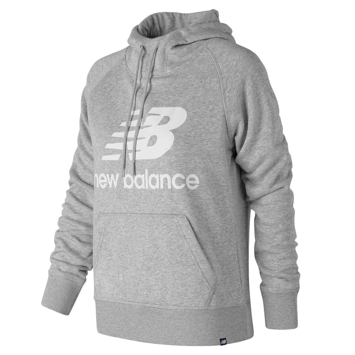 Women Essentials Pullover Hoodie Sweat-shirt à capuche pour femme New Balance 462392800380 Couleur gris Taille S Photo no. 1