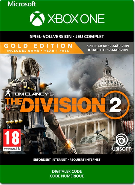 Xbox One - Tom Clancy's The Division 2: Gold Edition PrePurchase Download (ESD) 785300142575 N. figura 1
