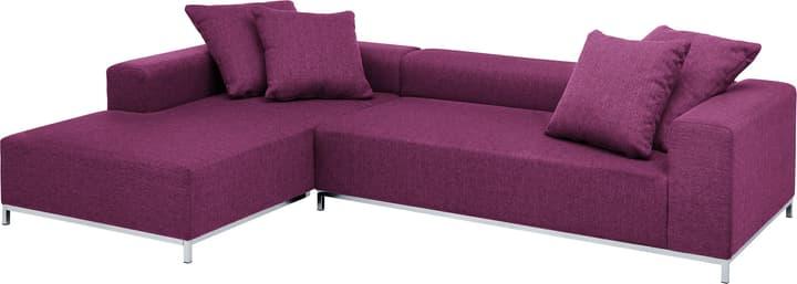 MEMPHIS Canapé d'angle 405743250123 Couleur Violet Dimensions L: 290.0 cm x P: 190.0 cm x H: 60.0 cm Photo no. 1