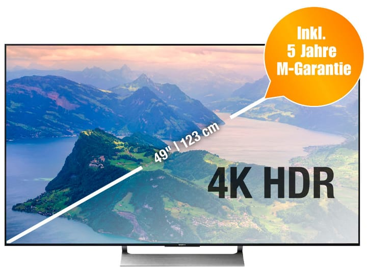 KD-49XE9005 123 cm 4K Televisore Sony 770335400000 N. figura 1