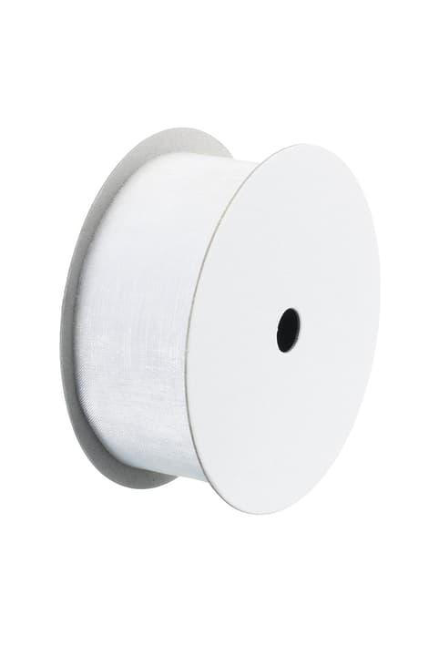 ORGANSA Ruban pour cadeau 440615900510 Couleur Blanc Dimensions L: 30.0 mm Photo no. 1