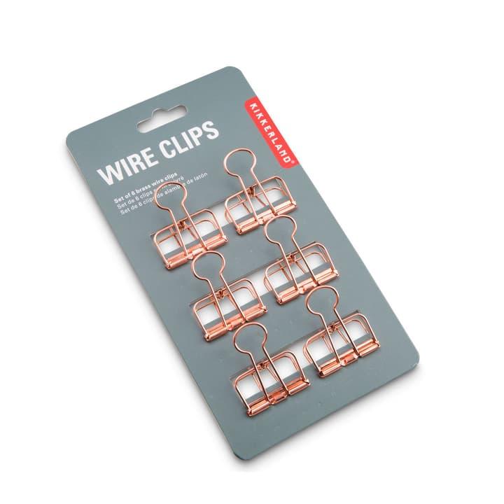 WIRE clip 6 pcs 386172600000 Dimensions L: 3.0 cm x P: 4.0 cm x H: 1.0 cm Couleur Cuivré Photo no. 1