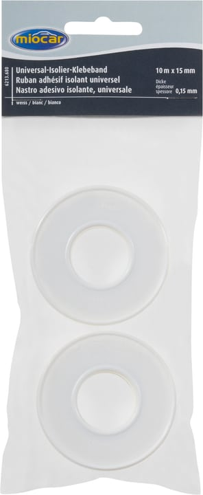 Ruban isolant blanc Ruban adhésif Miocar 621368000000 Couleur Blanc Photo no. 1