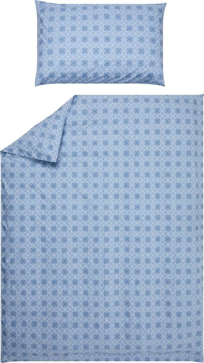 ISABEL Taie d'oreiller en percale 451193510940 Couleur Bleu Dimensions L: 100.0 cm x H: 65.0 cm Photo no. 1