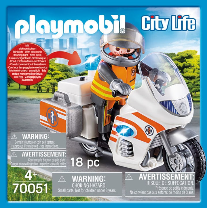 PLAYMOBIL 70051 urgentiste et moto 748012700000 Photo no. 1