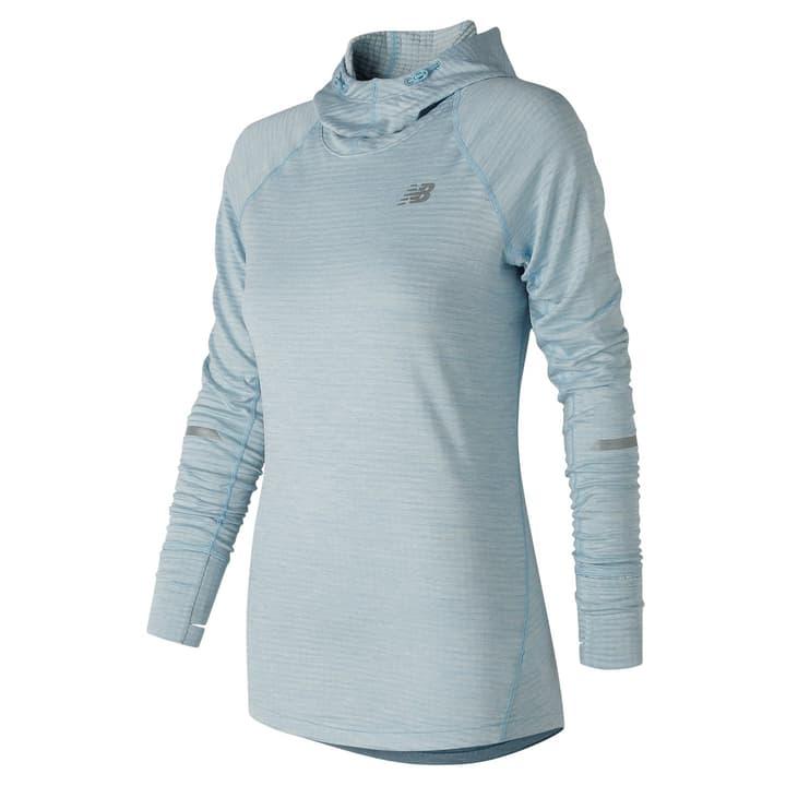 NB HEAT HOODIE Damen-Kapuzenpullover New Balance 470154800541 Farbe Hellblau Grösse L Bild-Nr. 1