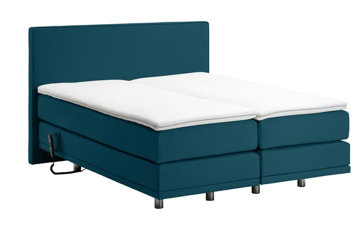NAVIER Lit Boxspring 403459300000 Couleur Pétrole Dimensions L: 160.0 cm x P: 200.0 cm Photo no. 1