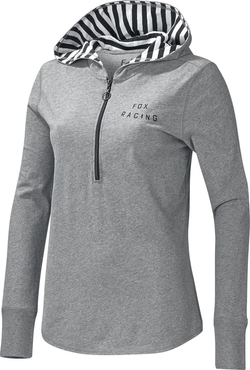 Block Pass Sweat-shirt à capuche pour femme Fox 461358400380 Couleur gris Taille S Photo no. 1