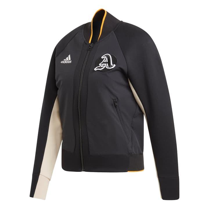 THE VARSITY JACKET Giacca con cappuccio da donna Adidas 464235600220 Colore nero Taglie XS N. figura 1